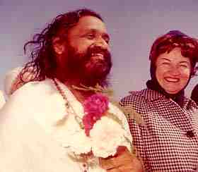 Helen Lutes with Maharishi